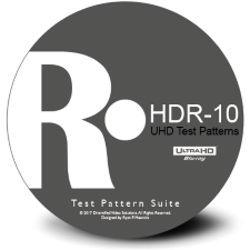 HDR-10 Test Patterns Suite UHD Blu-ray Disc by Diversified Video Solutions